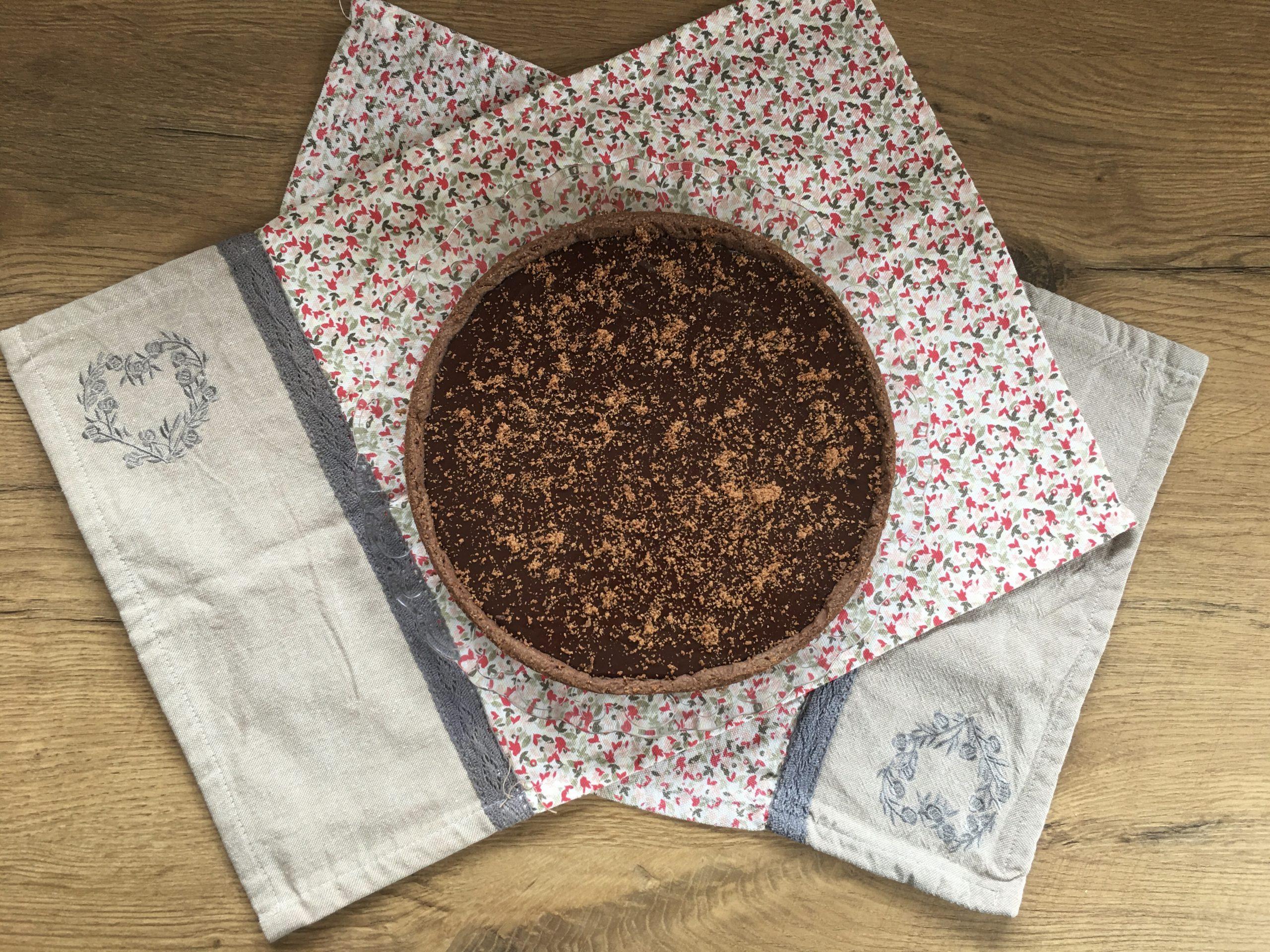 La tarte chocolat-praliné