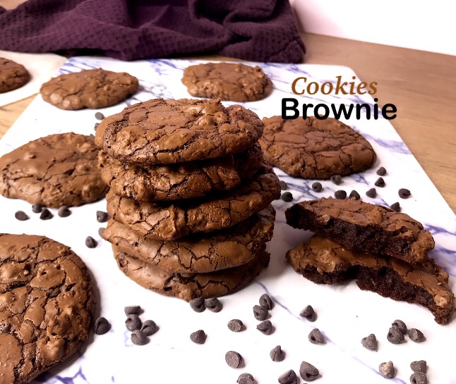 Les cookies brownie